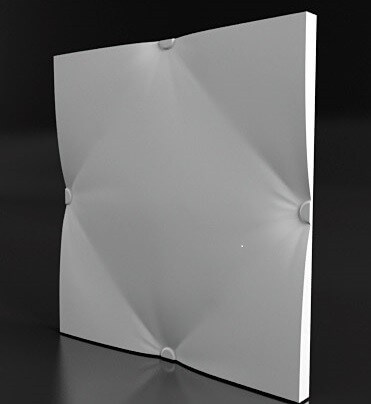 3д гипсовая панель TIE PILLOW