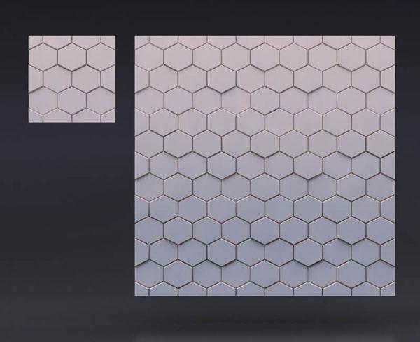 3д гипсовые панели шестигранник