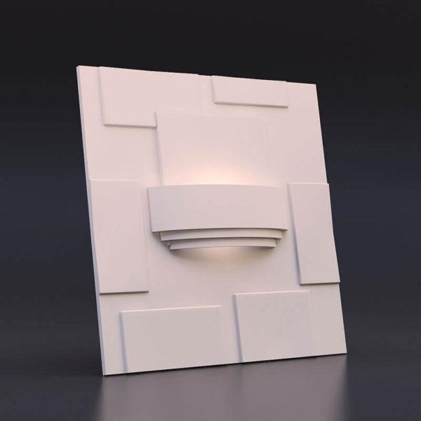 светильник из гипса модель 3 на панели