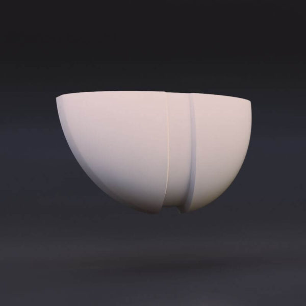 светильник из гипса модель 4