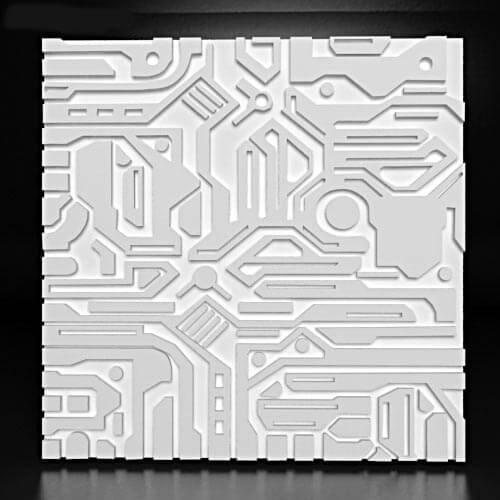 3д гипсовые панели электрон